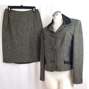 Kate Hill 8P Blazer Skirt Suit